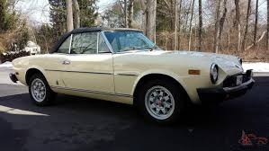 fiat spider 1978 fiat spider 2000 pininfarina with only 74 292 miles