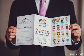 magazine wedding programs unique programs twofoot creative