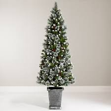buy john lewis chamonix 6ft pre lit potted christmas tree john lewis