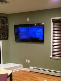 how to hide wires for wall mounted tv 55