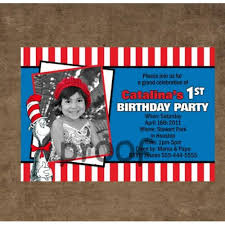dr seuss birthday invitations personalized photo cards