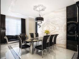 fancy modern black and white dining room decor ideas with textural