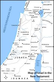 middle east map moses time map of israel in the time of jesus with roads bible