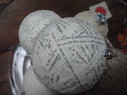 something from nothing paper mache christmas ornament