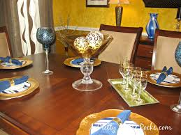 brown blue and gold dining room decor a pretty house rocks