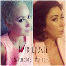 hairstyle for when hair grows back after chemo pixie cut 101 growing out a bald head leo with cancer