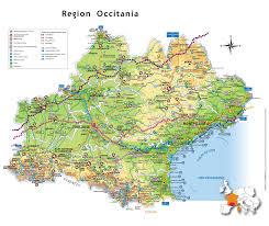 France Region Map by Occitanie Tourist Map