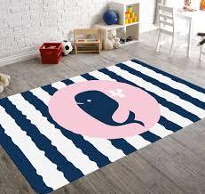 whale rug fish rug kids rug whale decor nursery rug pink