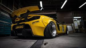 subaru liberty walk mclaren 650s by liberty walk