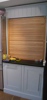 Cupboards With Solid Beech Or Coated Aluminium Roller Door  Sizes - Kitchen cabinet roller doors