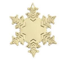 gold metal snowflake ornaments