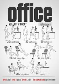Desk Chair Workout Visual Workout Guides For Full Bodyweight No Equipment Training