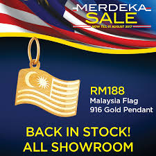 Malasia Flag Habib Habib U0027s 916 Gold Malaysia Flag Pendant Is Now Back