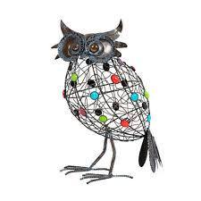 owl birds metal garden statues lawn ornaments ebay