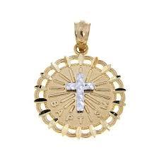 baptism jewelry michael anthony jewelry 10k 2 tone baptism cross pendant