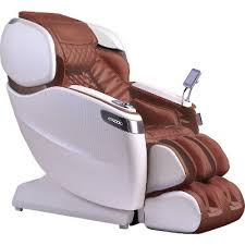 cappuccino brown u0026 pearl white wall hugger massage chair vario