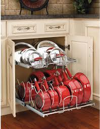 Under Cabinet Shelf Kitchen Kitchen Cabinet Pots And Pans Organization Pan Storage