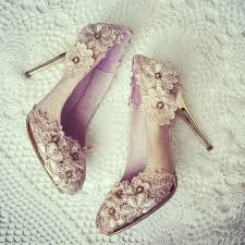 wedding shoes etsy chagne vintage flower lace crochet bridal satin wedding bridal