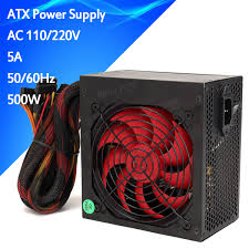 computer power supply fan 500w gaming smart silent 80mm fan atx 12v computer power