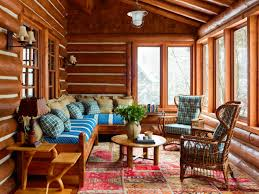Interior Design Sitting Room One Cozy Cabin Hold The Clutter Wsj