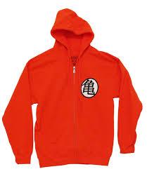 dragonball z son goku kame symbol zip hoodie
