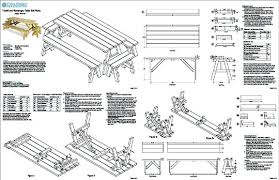 Plans For A Picnic Table With Separate Benches by Diy Folding Picnic Table Bench Plans Gallery Of Picnic Table Bench