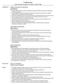 exle of a simple resume shift supervisor resume sles velvet