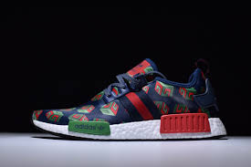 adidas x gucci adidas x gucci nmd r1 customs navy blue red green deltitech
