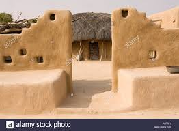india rajasthan thar desert village architecture decorated mud