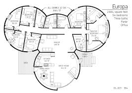 Underground Home Floor Plans Underground Dome Home Plans