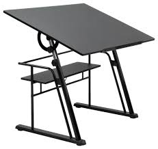 Drafting Tables Zenith Drafting Table Black 32 5 H X 42 W X 30 D Contemporary