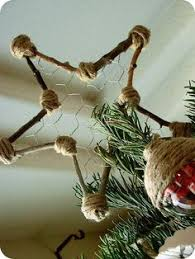 Ideas For Christmas Tree Toppers Homemade by Handmade Ornament Diy Rustic Twig Star Homesteads Star And