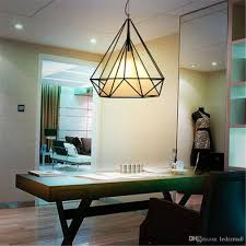 Dining Room Ceiling Light Discount Diamond Industrial Vintage Chandelier Metal Shade Ceiling