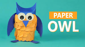 kids crafts paper animals paper owl craft for kids youtube