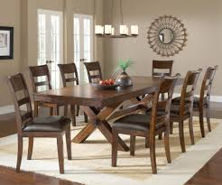 hillsdale park avenue 9 piece trestle dining room set in dark