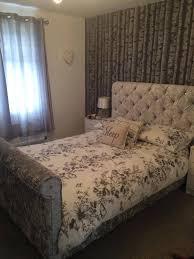 Velvet Sleigh Bed Crushed Velvet Sleigh Bed Frame Portsmouth Furniture Centre