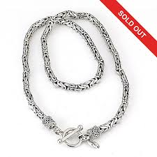silver byzantine chain necklace images Artisan silver by samuel b 24 quot oxidized byzantine chain necklace