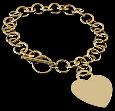 gold bracelet with heart charms images Style heart charm bracelet 14 karat gold jpg