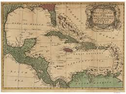 Old Mexico Map by Old Maps Of The Caribbean