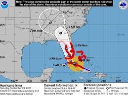 hurricane irma 8 am update path over cuba weakens irma to category 4
