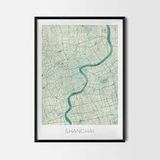 World Map Posters by Shanghai Art Posters City Art Map Posters And Prints