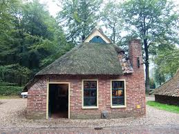 Giethoorn Homes For Sale by Small Old House Brick With Chimney And Old Style Roofing The