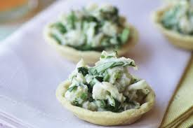 crab canapes crab and coriander