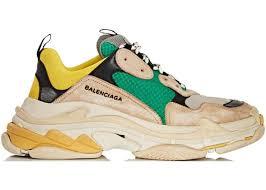 triple s beige green yellow