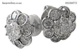diamond earrings nz jewellery photo gallery gary meaden auckland custom jewellery