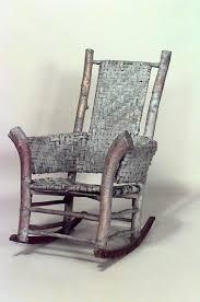 Jefferson Rocking Chair Rustic Adirondack Seating Chair Rocking Chair Birch Adirondack