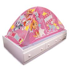 girls bed tent amazon com playhut paw patrol 2 in 1 bed tent pink toys u0026 games