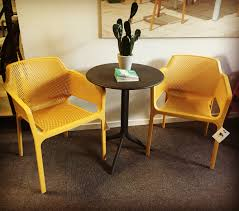 Oxo Gardening Chair Nardi Net Chair In Mustard With Spritz Side Table Nardi Outdoor