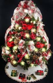 decorated mini tabletop tree by christmastreesnmore