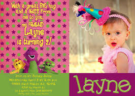 barney invitations personalized party invites free printable
